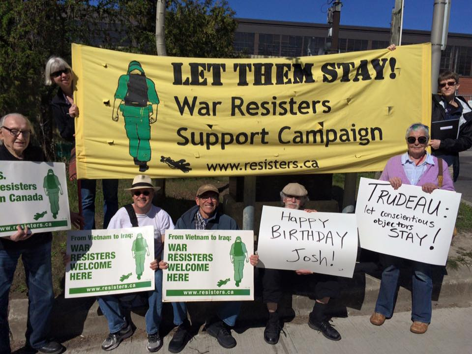 (Photo Facebook/War Resisters Support Campaign)