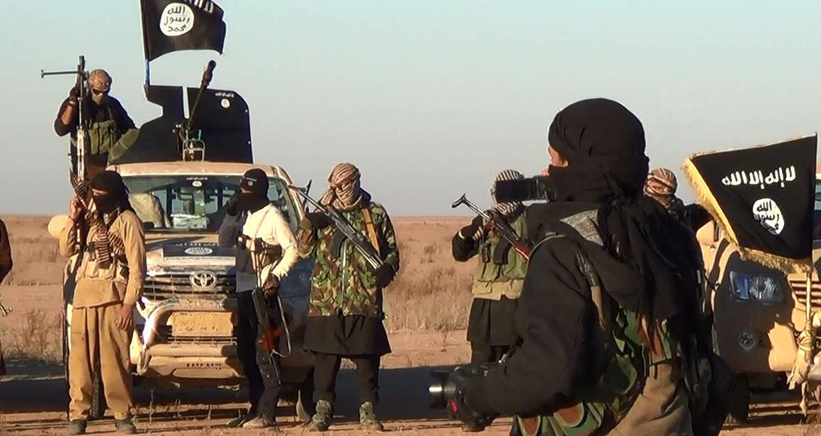 Des combattants de l'État Islamique à Racca