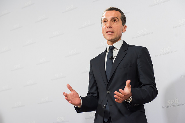 Le chancelier autrichien, Christian Kern. (Photo Flickr/ SPÖ Presse und Kommunikation)