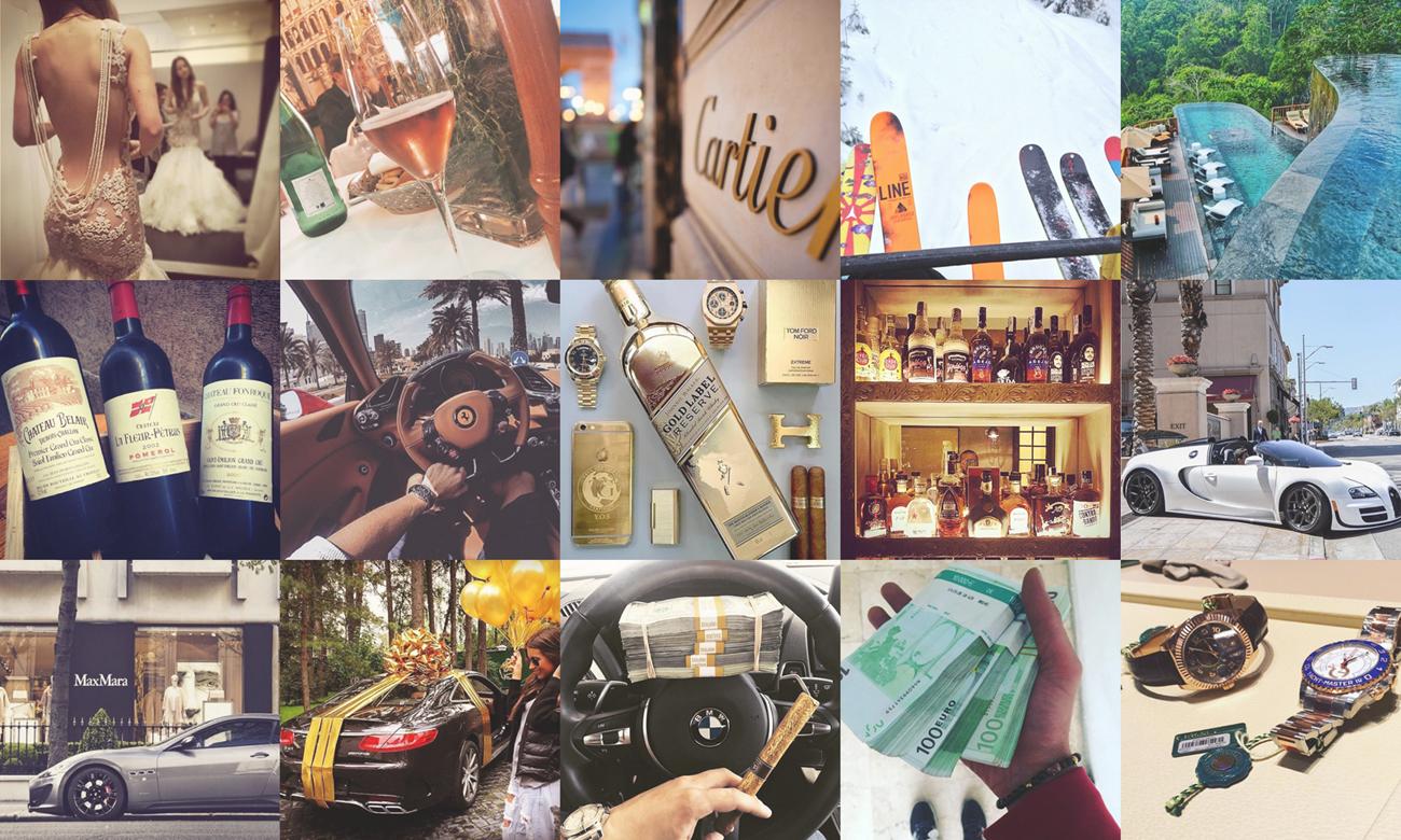 Montage à partir de photos tirées du hashtag Instagram #RichKidsOfTheran.