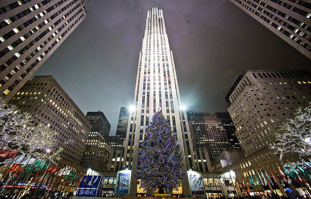 (Le sapin du Rockefeller Center par le photographe Thomas Hawk)