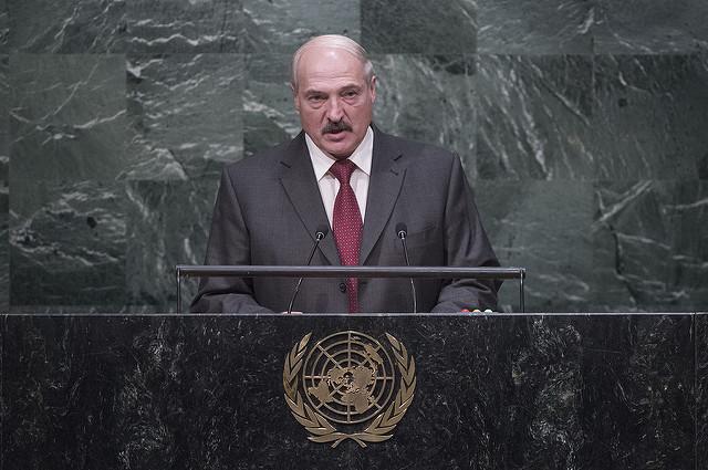 Alexandre Loukachenko lors de la 70e assemblée générale des nations unies, en 2015. (Photo Flickr/United Nations Photo)