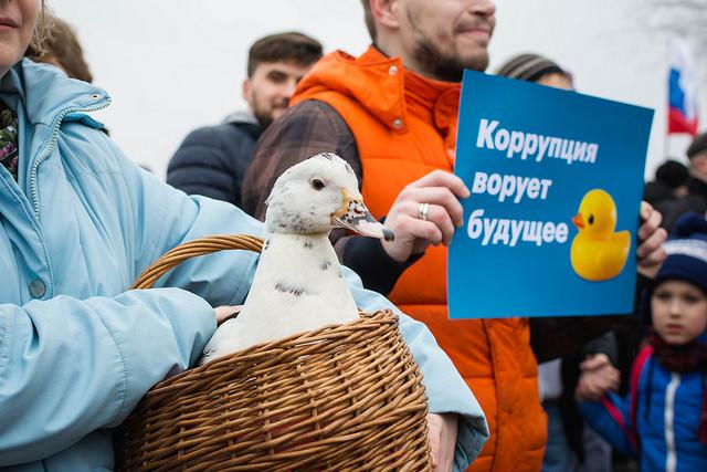 Marche contre la corruption à Saint-Pétersbourg le 26 mars 2017. (Photo Flickr/&Farhad Sadykov)