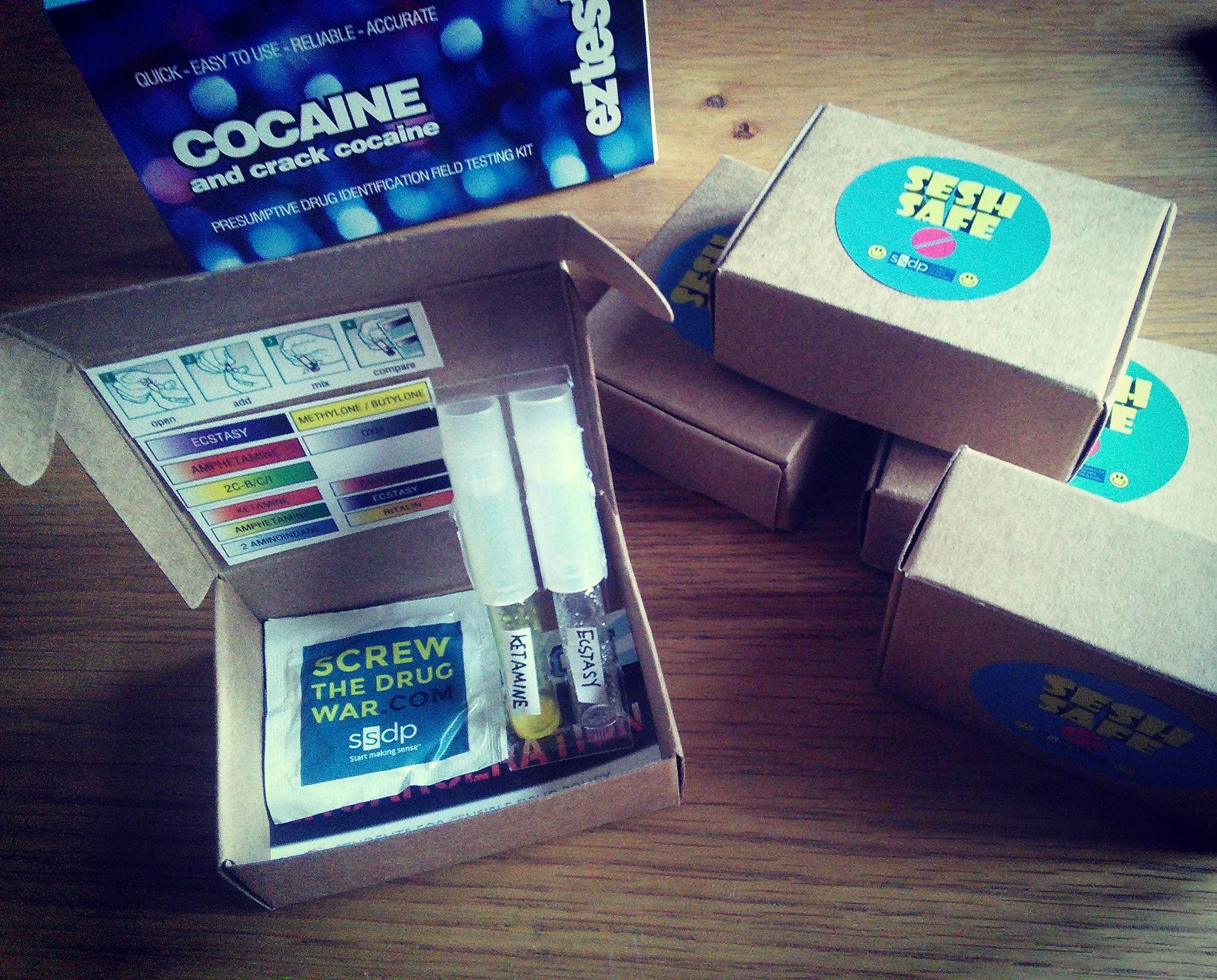 Un kit de dépistage SeshSafe. (photo Facebook/SeshSafe)