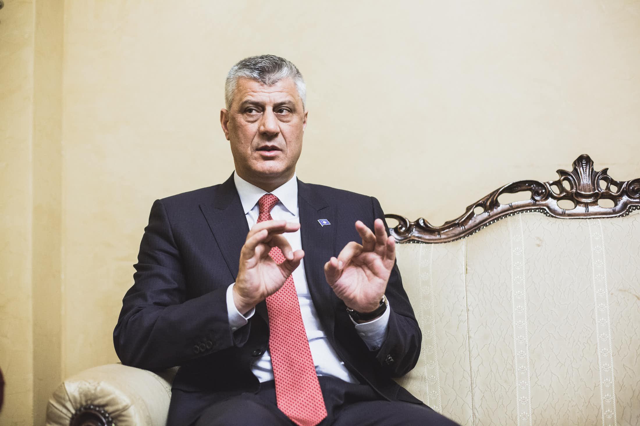 Le Président Hashim Thaçi, surnommé «le serpent». (photo Martin Valentin Fuchs)