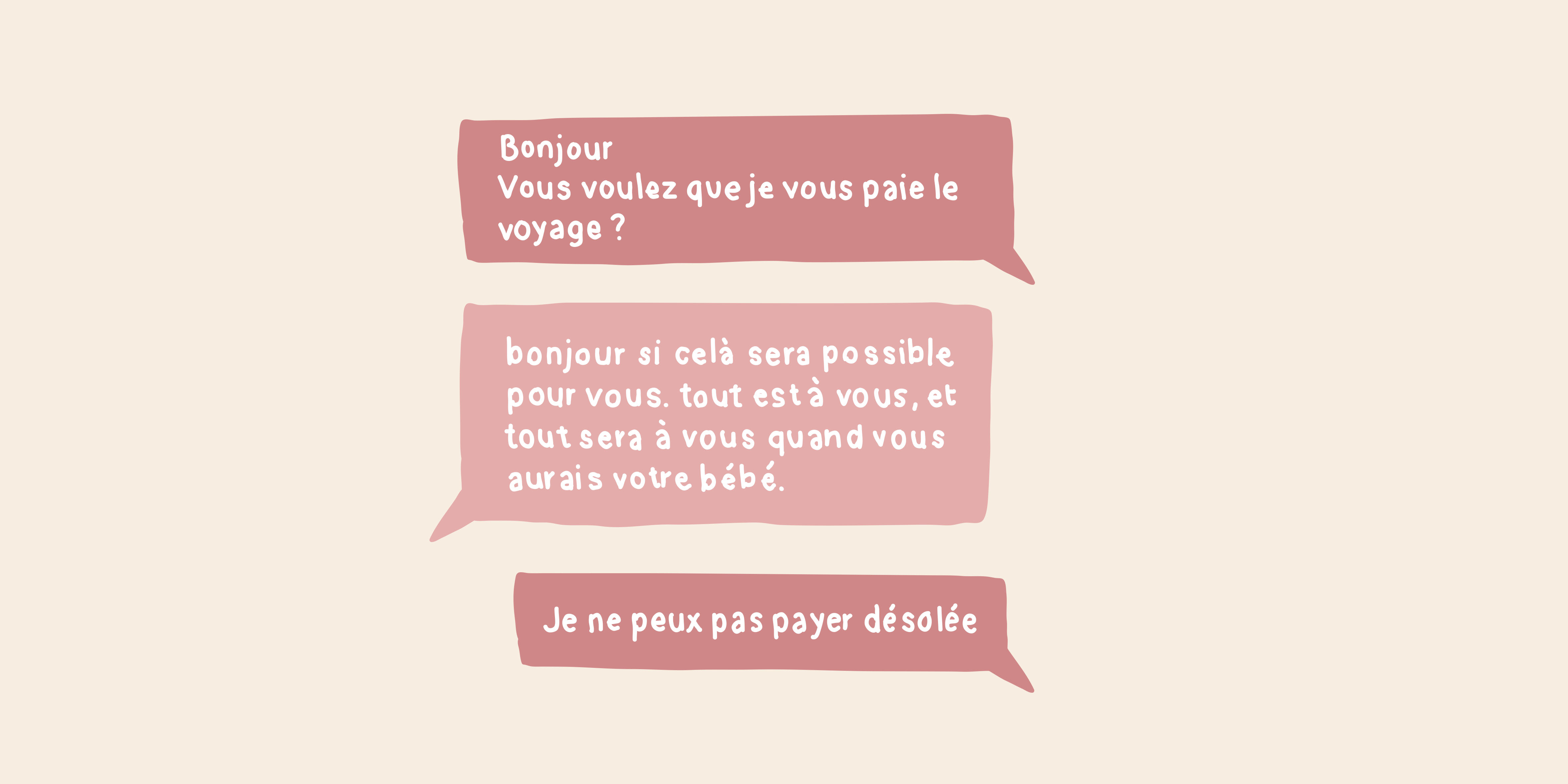 Retranscription d'une conversation Facebook. (Anissa Katz/ 8e étage)
