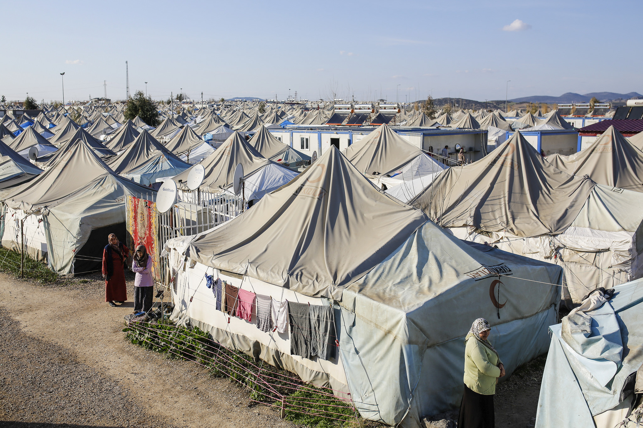 Un camp de réfugiés en Turquie en 2016.(Photo Flickr/ European Parliament)