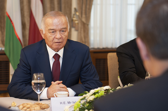 Islam Karimov en 2013. (Photo Flickr/ Saeima)