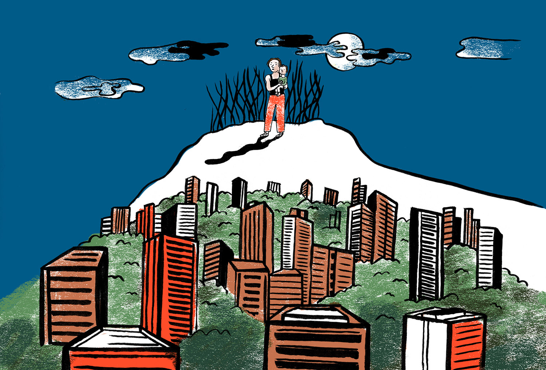 """""""Avant, je ne tombais jamais malade. En arrivant à Bogota, j'ai tout attrapé: la grippe, de l'asthme, des migraines."""" (Illustration Gala Vanson/8e étage)"""