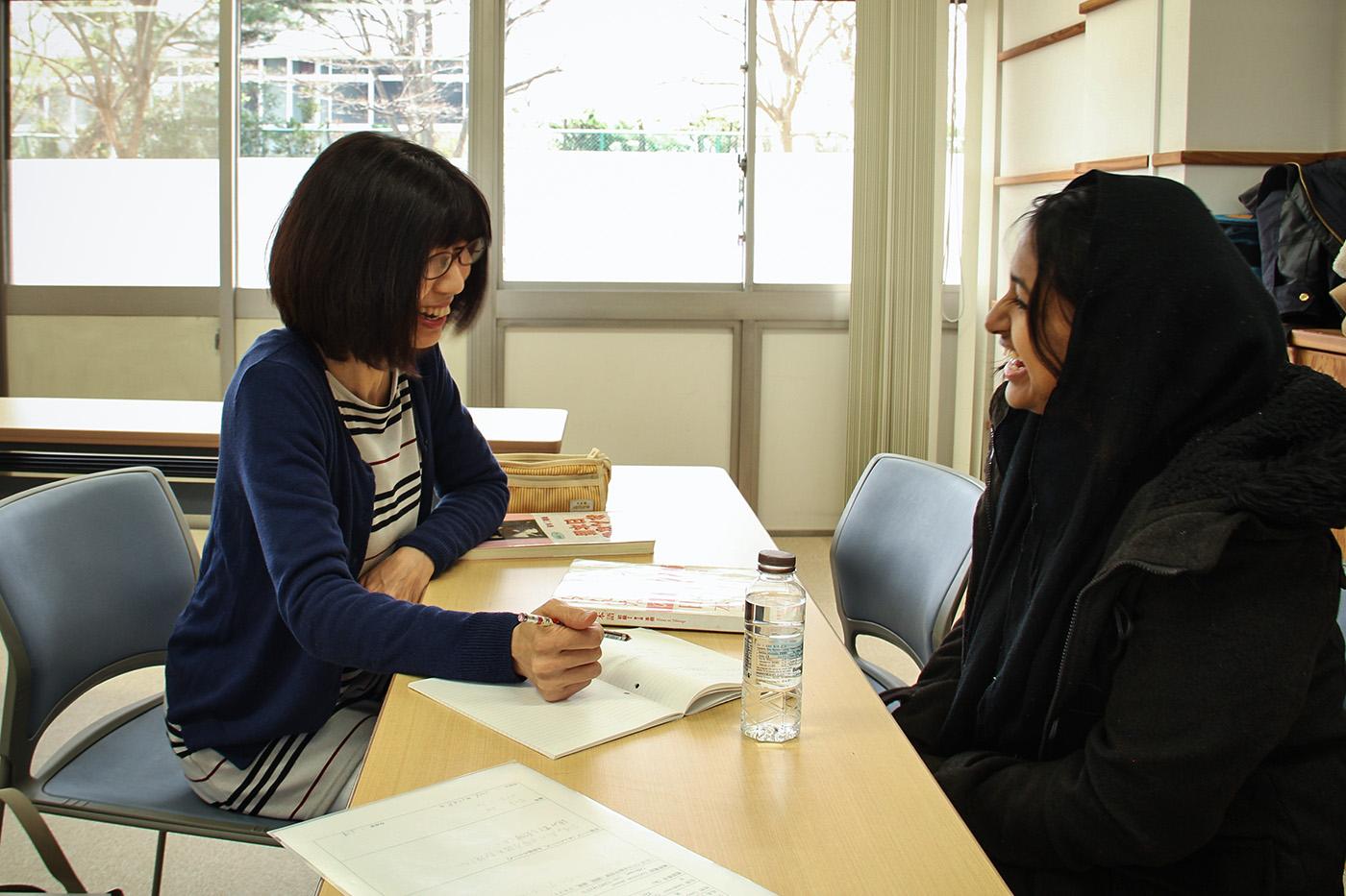 Le principal atout des leçons dispensées par l'association de Takiko Funaya: un prof = un élève.
