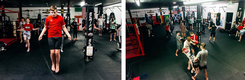 L'entraînement est principalement composé d'adolescents et d'adolescentes.  (photo Yann Levy/8e étage)