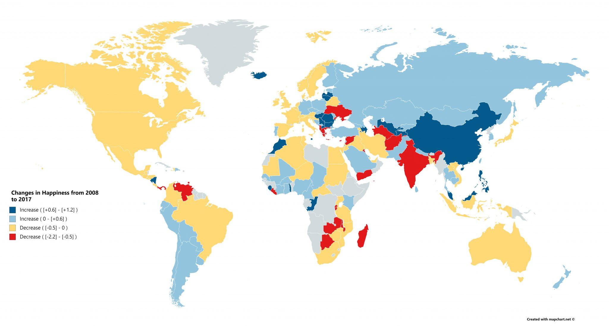World Happiness Report, le classement de l'ONU sur le bonheur dans le monde.