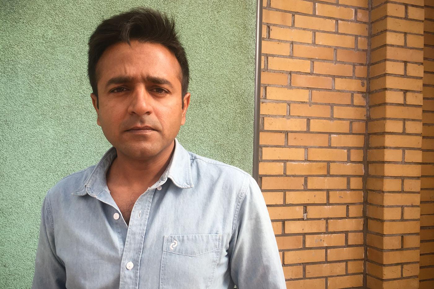 Farhan Jamalvy, la trentaine, est journaliste.  (Photo Capucine Japhet/8e étage)